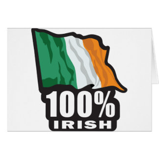 Orgulloso irlandés del 100 ser irlandés felicitacion