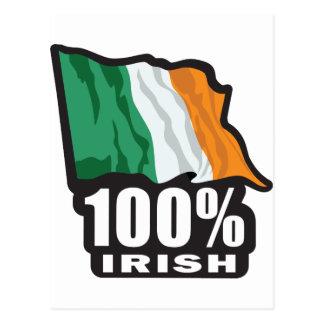 Orgulloso irlandés del 100 ser irlandés tarjeta postal