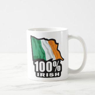 Orgulloso irlandés del 100% ser irlandés taza de café