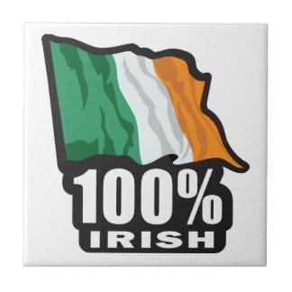 Orgulloso irlandés del 100% ser irlandés tejas