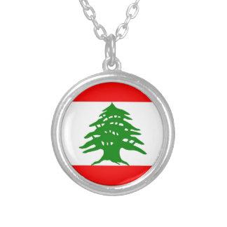 Orgulloso libanés - orgulloso ser libanés - Líbano Collar Plateado