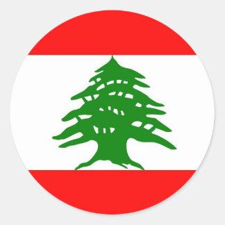 Orgulloso libanés - orgulloso ser libanés - Líbano Pegatina Redonda