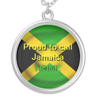 Orgulloso llamar Jamaica collar casero