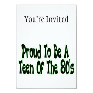 """Orgulloso para ser años 80 adolescentes invitación 5"""" x 7"""""""
