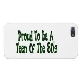 Orgulloso para ser años 80 adolescentes iPhone 5 carcasa