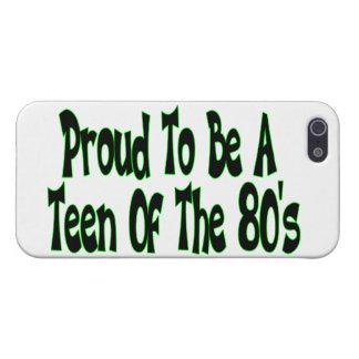 Orgulloso para ser años 80 adolescentes iPhone 5 funda