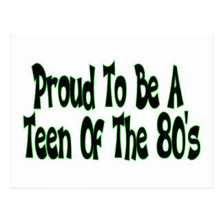 Orgulloso para ser años 80 adolescentes postal
