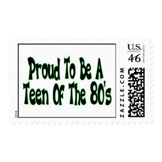 Orgulloso para ser años 80 adolescentes franqueo