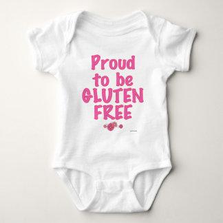 Orgulloso para ser gluten libre - rosa body para bebé