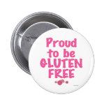 Orgulloso para ser gluten libre - rosa pins