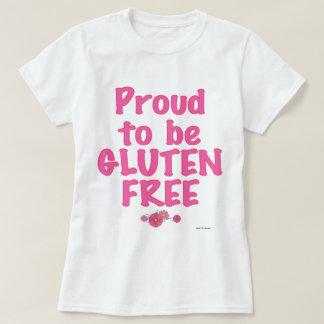 Orgulloso para ser gluten libre - rosa remeras