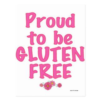 Orgulloso para ser gluten libre - rosa postal