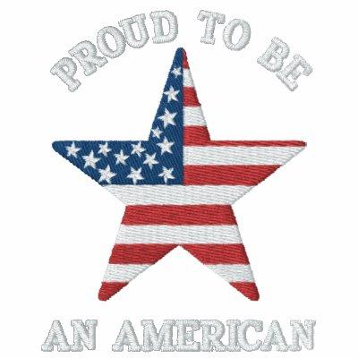 Orgulloso para ser un americano patriótico chaqueta bordada