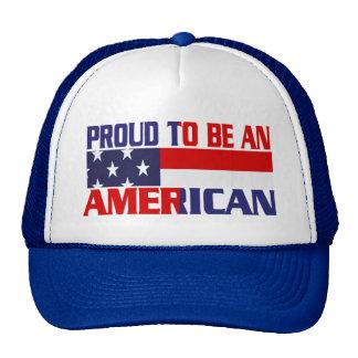 Orgulloso patriótico ser un americano - gorra