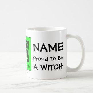 Orgulloso personalizada ser una bruja - taza