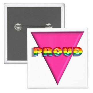 Orgulloso Pin Cuadrado