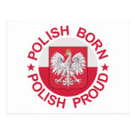 Orgulloso polaco llevada polaco tarjeta postal