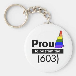 """""""Orgulloso ser (603)"""" del llavero"""
