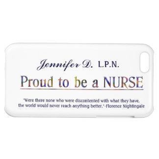 Orgulloso ser a Enfermera-con cita+Personalice el