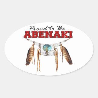 Orgulloso ser Abenaki Pegatina Ovalada