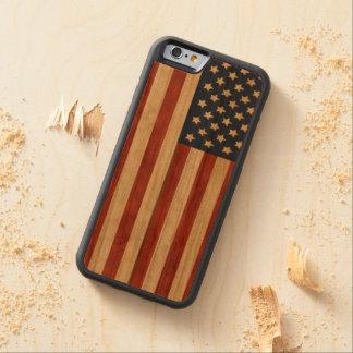 Orgulloso ser americana rústico americano funda de iPhone 6 bumper cerezo