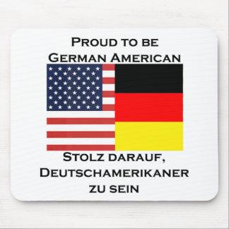 Orgulloso ser americano alemán alfombrilla de ratón