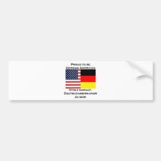 Orgulloso ser americano alemán pegatina para auto