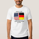 Orgulloso ser americano alemán playera