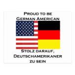 Orgulloso ser americano alemán postal