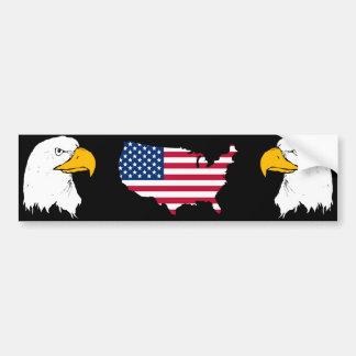 Orgulloso ser americano - bandera de los E.E.U.U. Pegatina De Parachoque