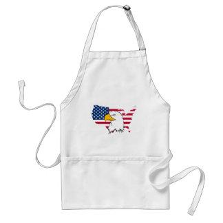 Orgulloso ser americano - bandera de los E.E.U.U. Delantal