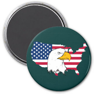 Orgulloso ser americano - bandera de los E.E.U.U. Imanes