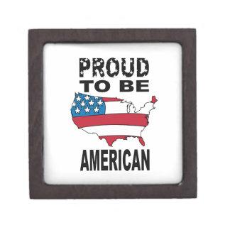 Orgulloso ser americano caja de joyas de calidad