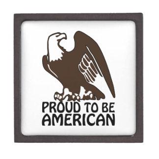 Orgulloso ser americano cajas de joyas de calidad