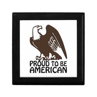 Orgulloso ser americano cajas de regalo