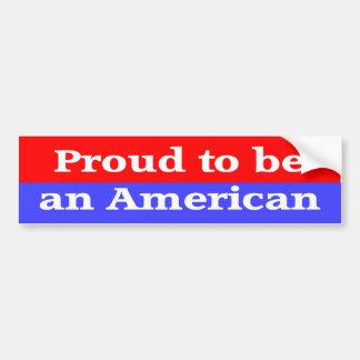 Orgulloso ser americano pegatina para auto