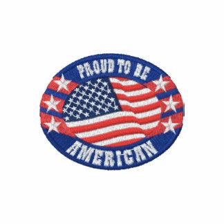 Orgulloso ser americano polo bordado