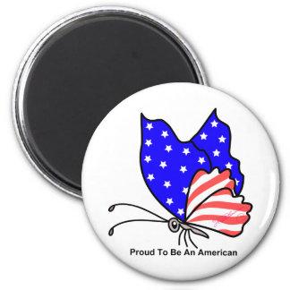 Orgulloso ser americano iman para frigorífico
