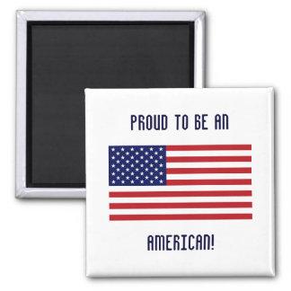 ¡Orgulloso ser americano! - Imán del diseñador