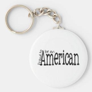 Orgulloso ser americano llavero redondo tipo pin