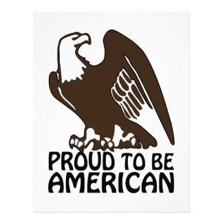 Orgulloso ser americano plantilla de membrete