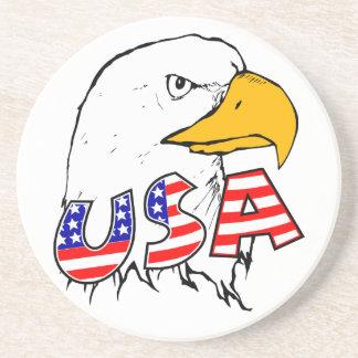 Orgulloso ser americano posavasos de arenisca