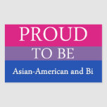 Orgulloso ser americano y BI asiáticos Rectangular Pegatina