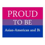 Orgulloso ser americano y BI asiáticos Postales