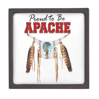 Orgulloso ser Apache Cajas De Recuerdo De Calidad