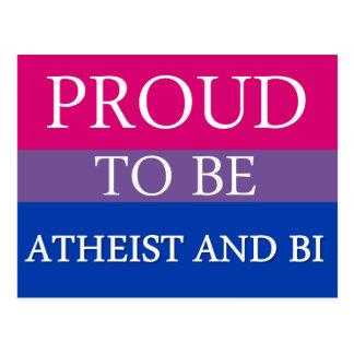 Orgulloso ser ateo y BI Tarjeta Postal