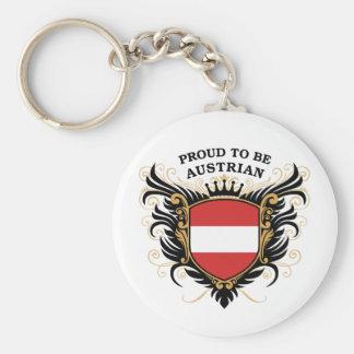 Orgulloso ser austríaco llavero redondo tipo pin