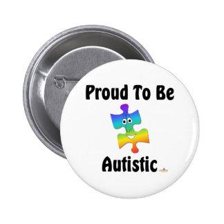 Orgulloso ser autístico pin redondo 5 cm