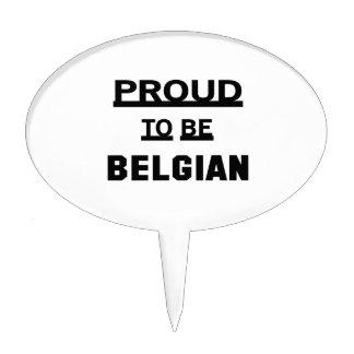 Orgulloso ser belga decoración para tarta