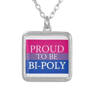 Orgulloso ser BI-Polivinílico Joyeria Personalizada